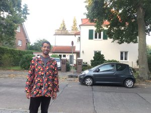 Standing in front of the Berlin house where my grandfather lived in the 1950s